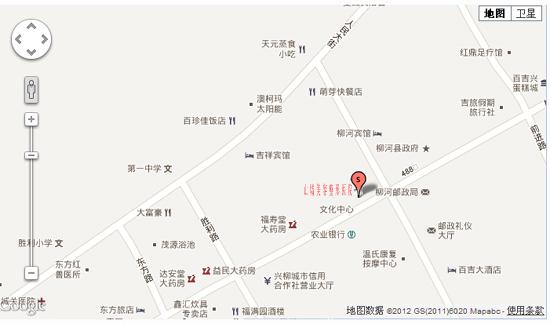 柳河山城美容整形医院行车路线图